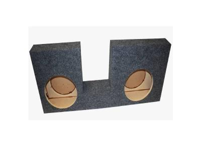 Atrend Dual 10 Inch Sealed Carpeted Subwoofer Enclosure - A394-10CP