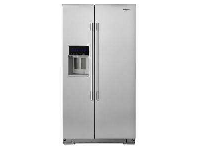 "36"" Whirlpool 20.6 Cu. Ft. Side-by-Side Counter-Depth Refrigerator- WRSA71CIHZ"
