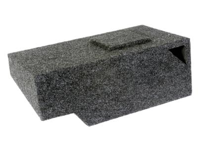 Atrend Single 10 Inch Vented Carpeted Subwoofer Enclosure - A141-10CPV