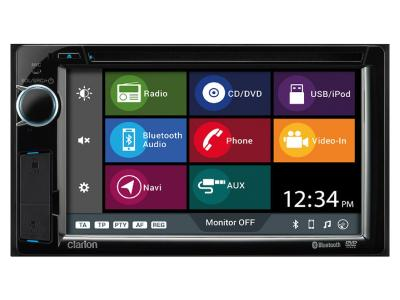 Clarion 2-Din Dvd Multimedia Station With Built-in Navigation And 6.2 Inch Touch Panel Control - NX387
