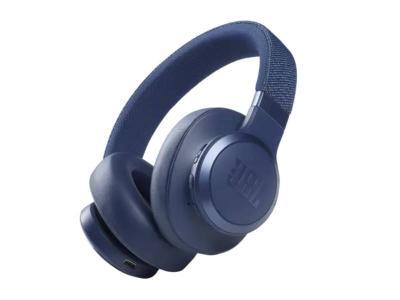 JBL Wireless Over-Ear Noise Cancelling Headphones in Blue  - JBLLIVE660NCBLUAM