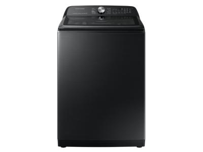 """28"""" Samsung 5.8 Cu. Ft. Top Loading Washer With SmartThings In Black - WA50A5400AV"""
