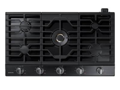 "36"" Samsung Gas Cooktop with 22K BTU Dual Power Burner - NA36K7750TG/AA"