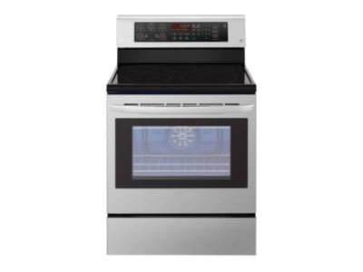 """30"""" LG 6.3 Cu. Ft. Electric Range with EasyClean and True Convection - LRE3193ST"""
