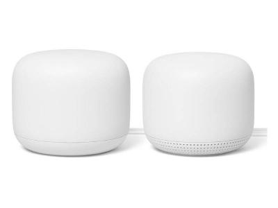 Google Nest WiFi Router and Point in White - GA00822-CA