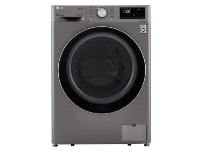 """24"""" LG 2.6 cu. ft Compact Front Load Washer with Steam Technology - WM1455HVA"""