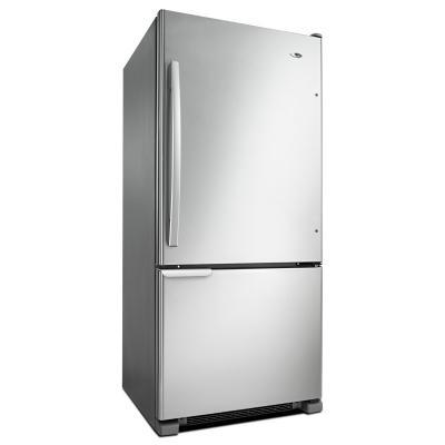 "30"" Amana 18 Cu. Ft. Wide Bottom-Freezer Refrigerator With Garden Fresh Crisper Bins - ABB1921BRM"