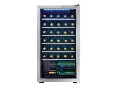 "18"" Danby 3.3 Cu. Ft. 36 Bottle Wine Cooler - DWC93BLSDBR1"