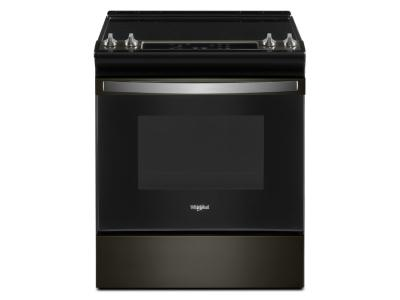 """30"""" Whirlpool 4.8 Cu. Ft. Electric Range With Frozen Bake Technology In Black Stainless - YWEE515S0LV"""