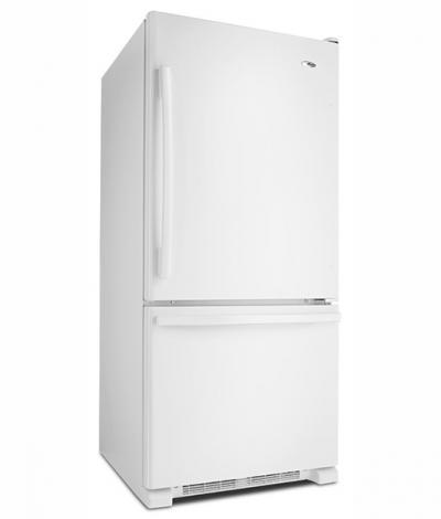 "30"" Amana 18.5 cu. ft. Bottom-Freezer Refrigerator - ABB1924BRW"