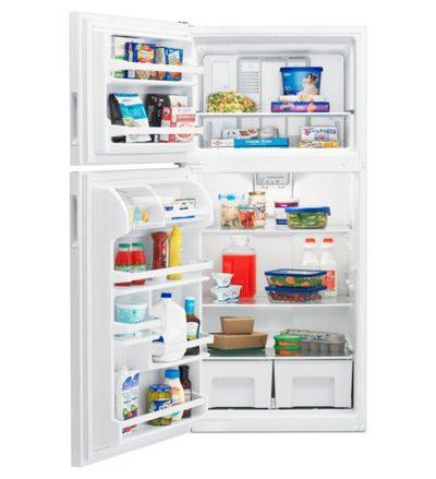 """30"""" Amana 18 Cu. Ft. Top-Freezer Refrigerator With Glass Shelves - ART318FFDS"""