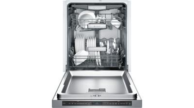 """24"""" Bosch Benchmark Recessed Handle Dishwasher Stainless Steel - SHE89PW75N"""