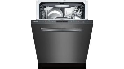 """24"""" Bosch 800 Series Pocket Handle Fully Integrated Dishwasher Black Stainless Steel - SHPM78W54N"""