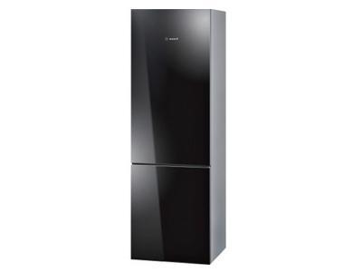 """24"""" Bosch 10 Cu. Ft. 800 Series Glass Door Counter-Depth Bottom Freezer Refrigerator - B10CB80NVB"""