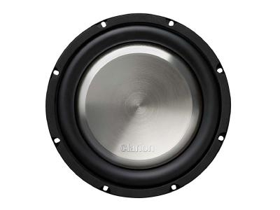 """Clarion 1000W MAX. 10"""" SINGLE 4-OHM VOICE COIL SHALLOW-MOUNT SUBWOOFER WF2520"""