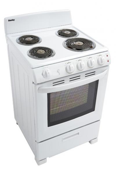 "24"" Danby 2.9 Cu. Ft. Single Oven Electric Range - DER244WC"