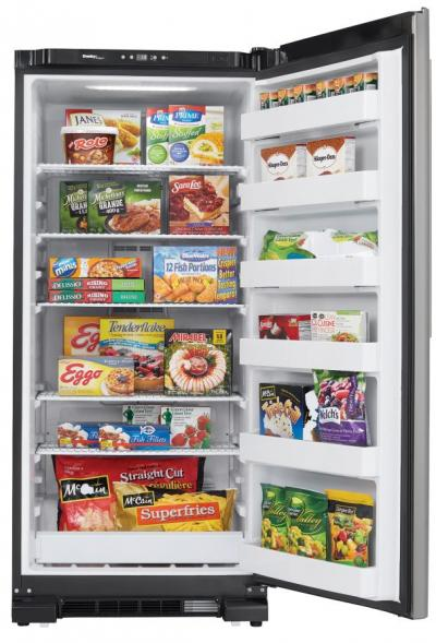 """30"""" Danby 16.7 Cu. Ft. Upright Freezer In Stainless Steel - DUF167A4BSLDD"""