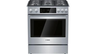 """31"""" Bosch Benchmark Dual Fuel Slide-in Range Stainless Steel - HDIP056C"""