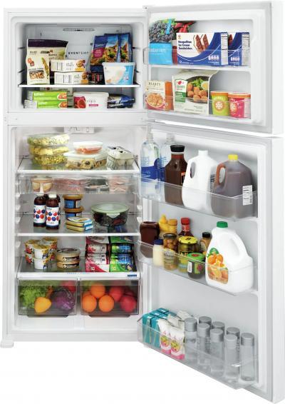 Frigidaire Top Mount Refrigerator LED Lighting In White - FFTR2045VW