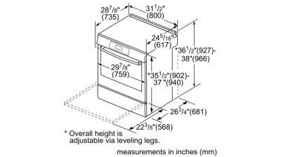 Bosch 4.6 Cu. Ft. 800 Series Electric Slide-in Range Stainless Steel - HEI8056C