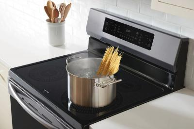 """30"""" Frigidaire Gallery 5.4 Cu. Ft. Freestanding Induction Range with Air Fry In Black Stainless Steel - GCRI305CAD"""
