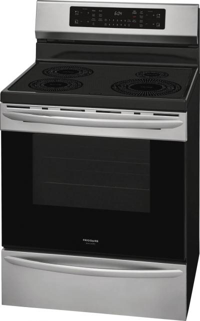 """30"""" Frigidaire Gallery 5.4 Cu. Ft. Freestanding Induction Range With Air Fry In Stainless Steel - GCRI305CAF"""