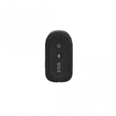 JBL Go 3 Portable Bluetooth Speaker in Black - JBLGO3BLKAM