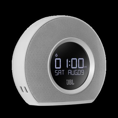 JBL Bluetooth clock radio with USB charging and ambient light - JBLHORIZONWHTAM-