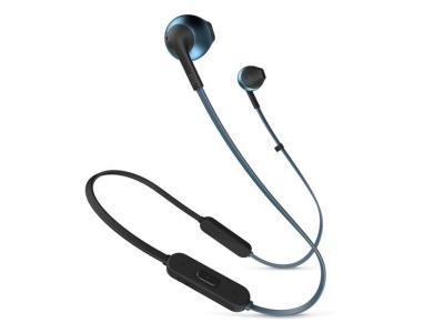 JBL TUNE 205BT Wireless Earbud Headphones In Blue - JBLT205BTBLUAM
