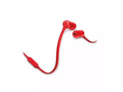 JBL TUNE 110 In-Ear Headphones in Red - JBLT110REDAM