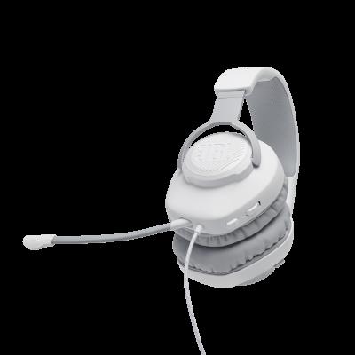 JBL Quantum 100 Wired Over-Ear Gaming Headset - JBLQUANTUM100WHTAM