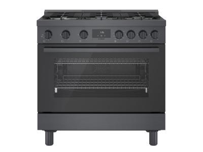 "36"" Bosch 800 Series Freestanding Gas Range In Black Stainless Steel - HGS8645UC"