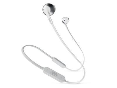 JBL TUNE 205BT Wireless Earbud Headphones In Silver - JBLT205BTSILAM
