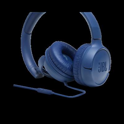 JBL Tune 500 Wired On-Ear Headphones - JBLT500BLUAM