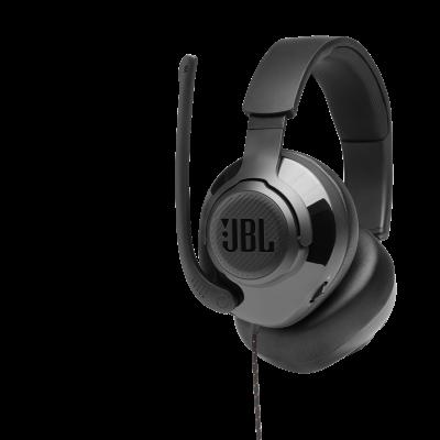 JBL Quantum 300 Hybrid Wired Over-Ear Gaming Headset with Flip-Up Mic - JBLQUANTUM300BLKAM