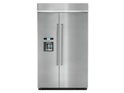 """48"""" KitchenAid 29.5 Cu. Ft. Built-In Side by Side Refrigerator - KBSD608ESS"""