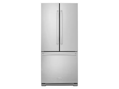 """30"""" KitchenAid 20 Cu. Ft. Standard Depth French Door Refrigerator with Interior Dispense - KRFF300ESS"""