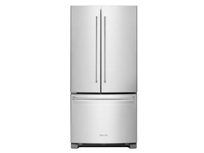 """33"""" KitchenAid 22 Cu. Ft. Standard Depth French Door Refrigerator With Interior Dispense - KRFF302ESS"""