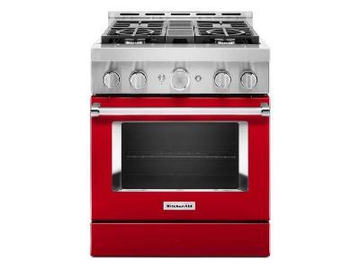 "30"" KitchenAid 4.1 Cu. Ft. Smart Commercial-Style Gas Range With 4 Burners - KFGC500JPA"