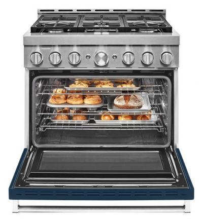 36'' KitchenAid 5.1 Cu. Ft. Smart Commercial-Style Gas Range With 6 Burners - KFGC506JIB