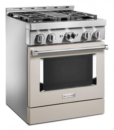30'' KitchenAid 4.1 Cu. Ft. Smart Commercial-Style Gas Range With 4 Burners - KFGC500JMH