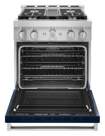 30'' KitchenAid 4.1 Cu. Ft. Smart Commercial-Style Gas Range With 4 Burners - KFGC500JIB