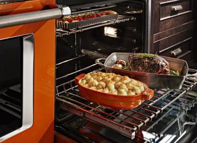 48'' KitchenAid 6.3 Cu. Ft. Smart Commercial-Style Gas Range with Griddle - KFGC558JSC