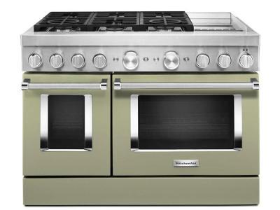 "48"" KitchenAid 6.3 Cu. Ft. Dual Fuel Self Clean Convection Range - KFDC558JAV"