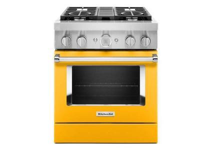 30'' KitchenAid 4.1 Cu. Ft. Smart Commercial-Style Dual Fuel Range With 4 Burners - KFDC500JYP