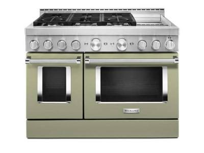 48'' KitchenAid 6.3 Cu. Ft. Smart Commercial-Style Gas Range with Griddle - KFGC558JAV