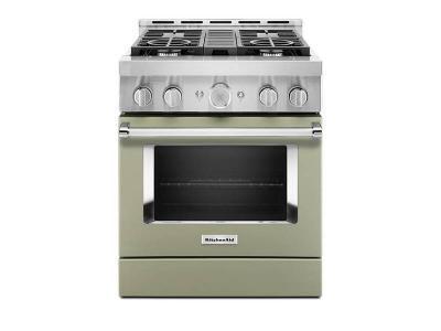 "30"" KitchenAid 4.1 Cu. Ft. Smart Commercial-Style Gas Range With 4 Burners - KFGC500JAV"