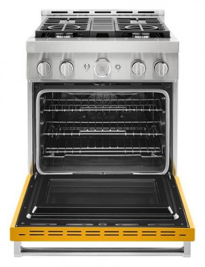 "30"" KitchenAid 4.1 Cu. Ft. Smart Commercial-Style Gas Range With 4 Burners - KFGC500JYP"