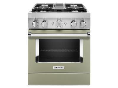 "30"" KitchenAid 4.1 Cu. Ft. Smart Commercial-Style Dual Fuel Range With 4 Burners - KFDC500JAV"
