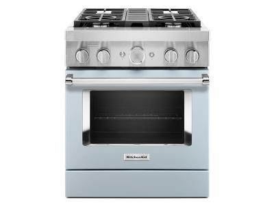 "30"" KitchenAid 4.1 Cu. Ft. Smart Commercial-Style Dual Fuel Range With 4 Burners - KFDC500JMB"